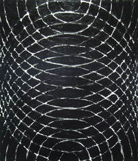 Black Concentric Ripples