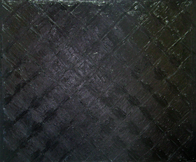 black minimalism, abstract, geometric, diamond pattern, wet, glossy surface, pure black color, abstract acrylic painting 2038,2004 | Kazuya Akimoto Art Museum