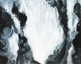 The White Resurrection : abstract symbolism, black and white, contemporary, christianity, christian theme, abstract biblical theme, religious symbolism, acrylic painting #4309, 2005 | Kazuya Akimoto Art Museuym