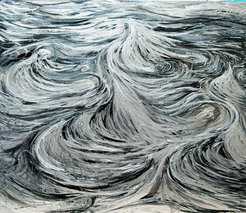 silver north sea currents abstract silver soft line pattern painting abstract seascape abstract