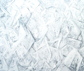 Abstract Icy Cubism Blizzard White on White  : abstract white cubism pattern, line cubism, winter icy cold theme, abstract season, abstract icy stormy field, abstract icy air condition, abstract storm pattern, abstract white on white pattern, subtle expressionism, acrylic painting #4506, 2005 | Kazuya Akimoto Art Museum