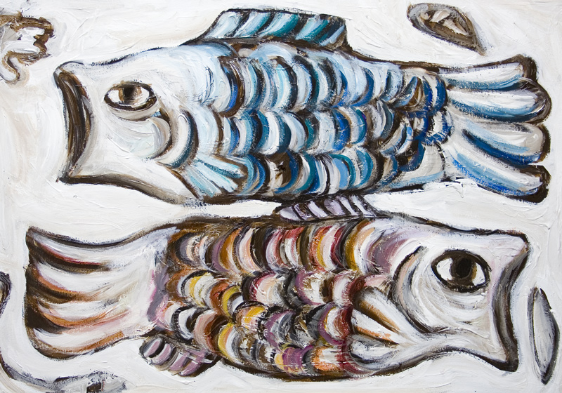 Two Carps In The Skykoinobori New Contemporary Japonism