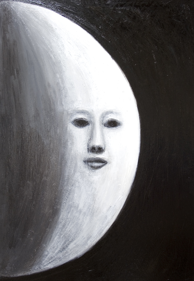 The Human Face On Moon New Surreal Realism Black And White