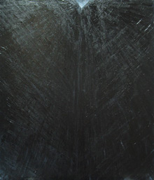 """Black Elevation"" :black symbolic perspective pattern, black minimalism, contemporary black painting"