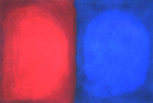 Abstract Blue and Red comparison